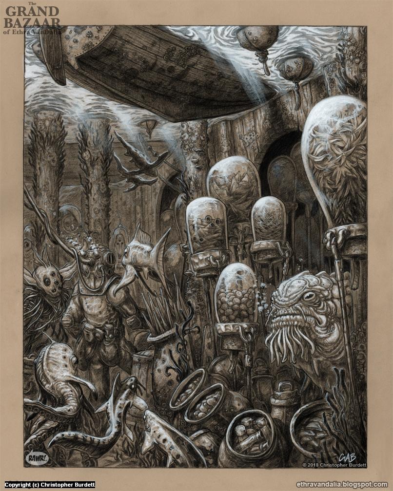 Sunken Stalls Artwork by Christopher Burdett