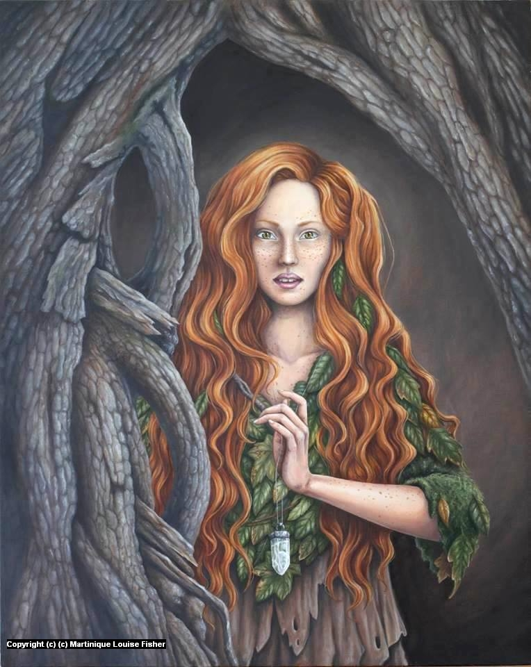 Child of the Forest Artwork by Martinique Fisher