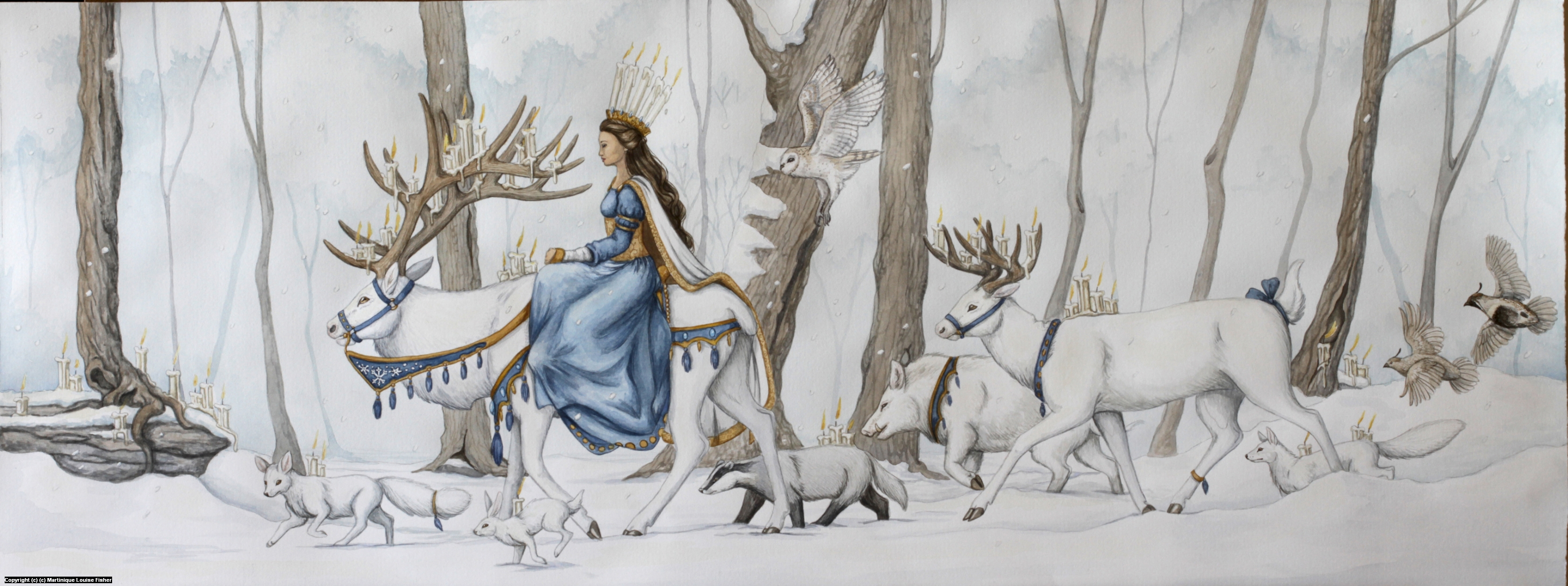 Infected By Art » Art Gallery » Martinique Fisher » Imbolc in Fantasy-Watercolor