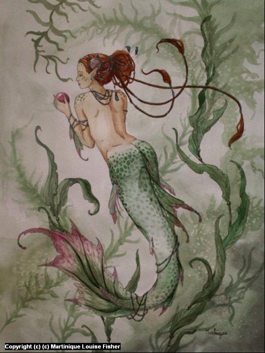 Sea Maiden Artwork by Martinique Fisher