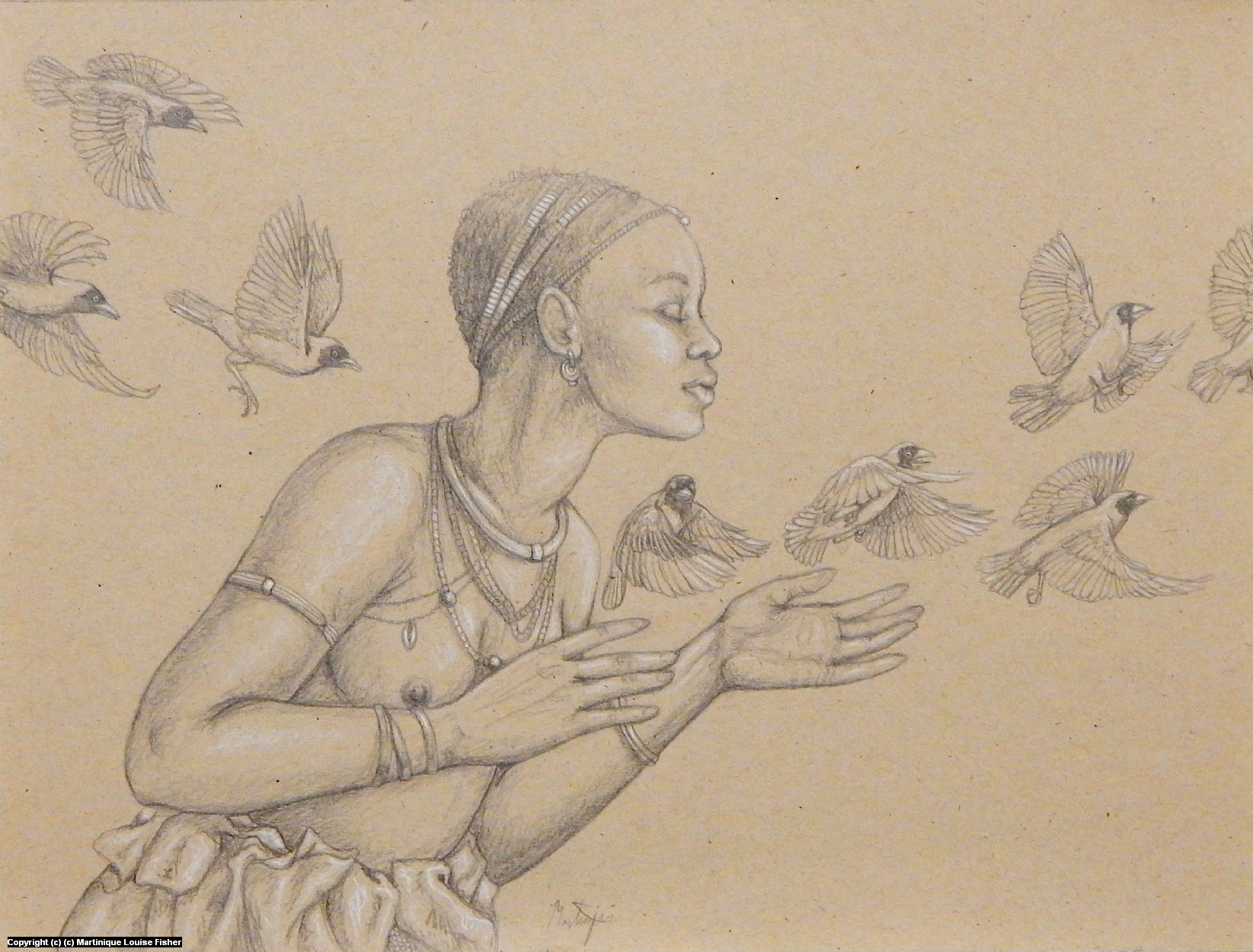 Forest Weavers Artwork by Martinique Fisher