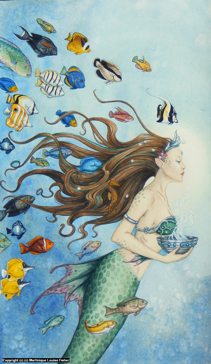 Queen of Cups Artwork by Martinique Fisher