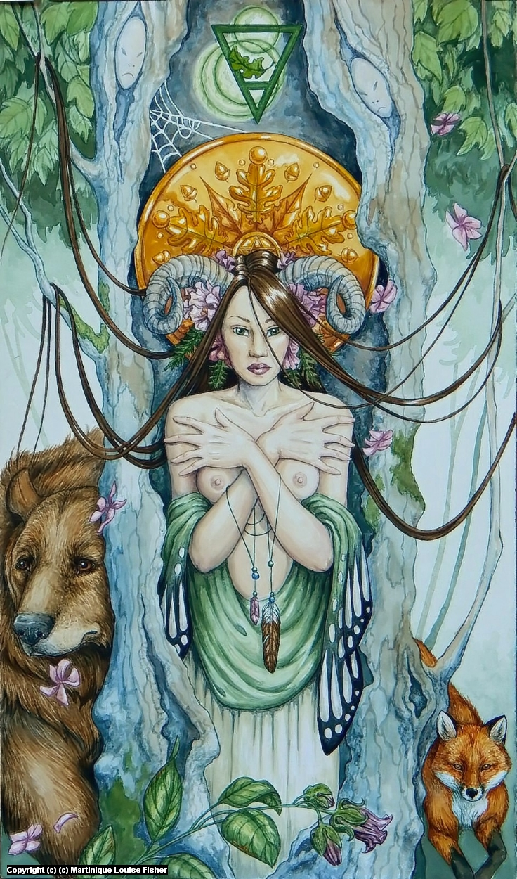 Queen of Pentacles Artwork by Martinique Fisher