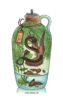 Bottled: Spade-Tailed Pipewyrm Comic Art