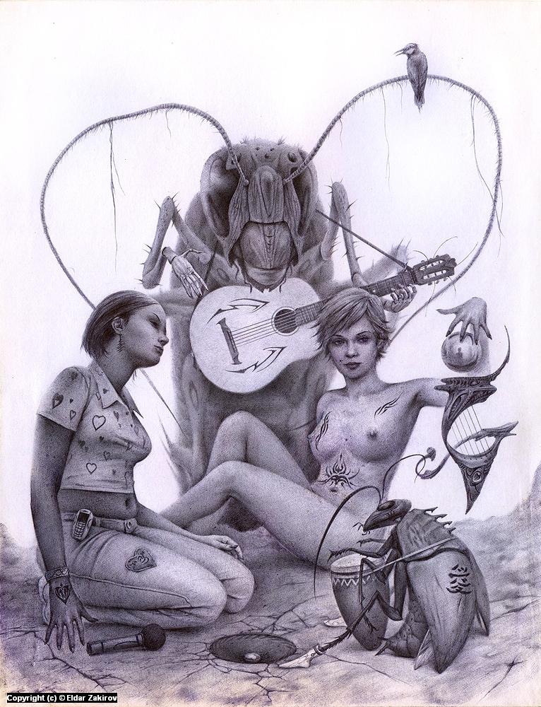 Alien Music Artwork by Eldar Zakirov