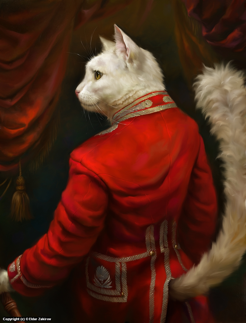 The Hermitage Court Chamber Herald Cat Artwork by Eldar Zakirov
