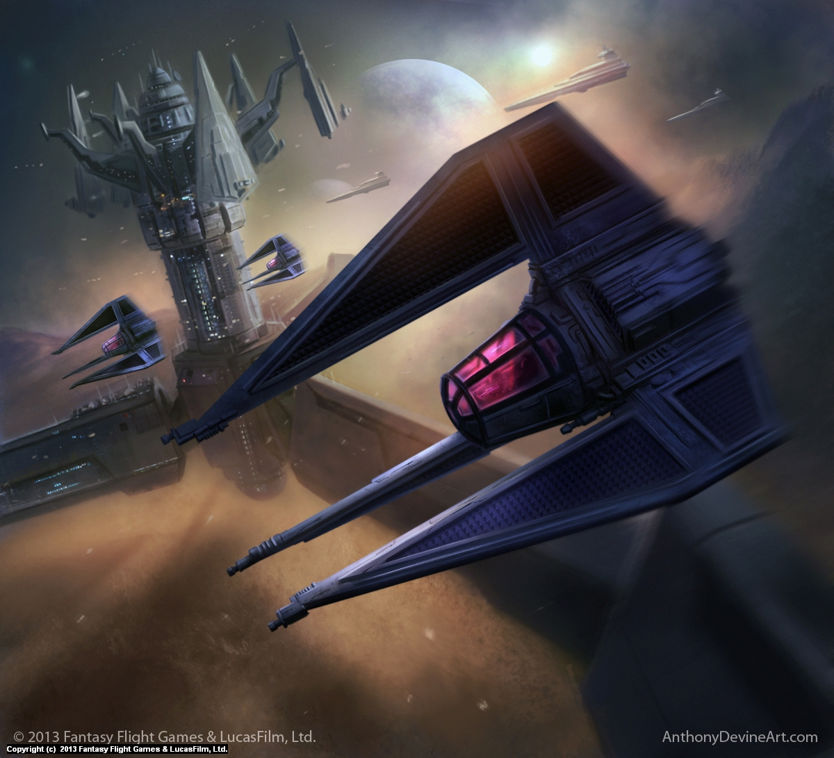 Shadow Squadron Pilot Artwork by Anthony Devine