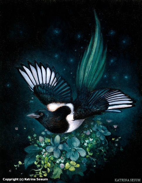 The Seventh Magpie Artwork by Katrina Sesum