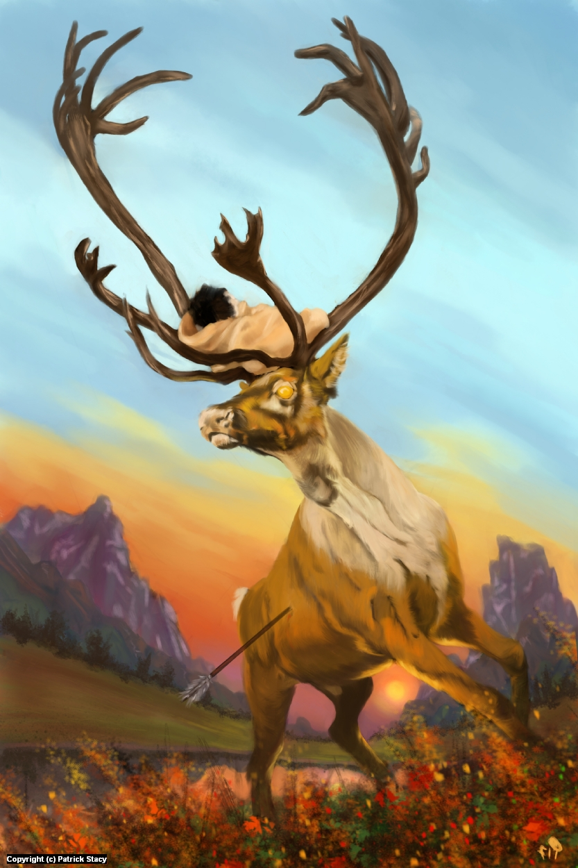 The Woman Who Loved Reindeer Artwork by Patrick Stacy