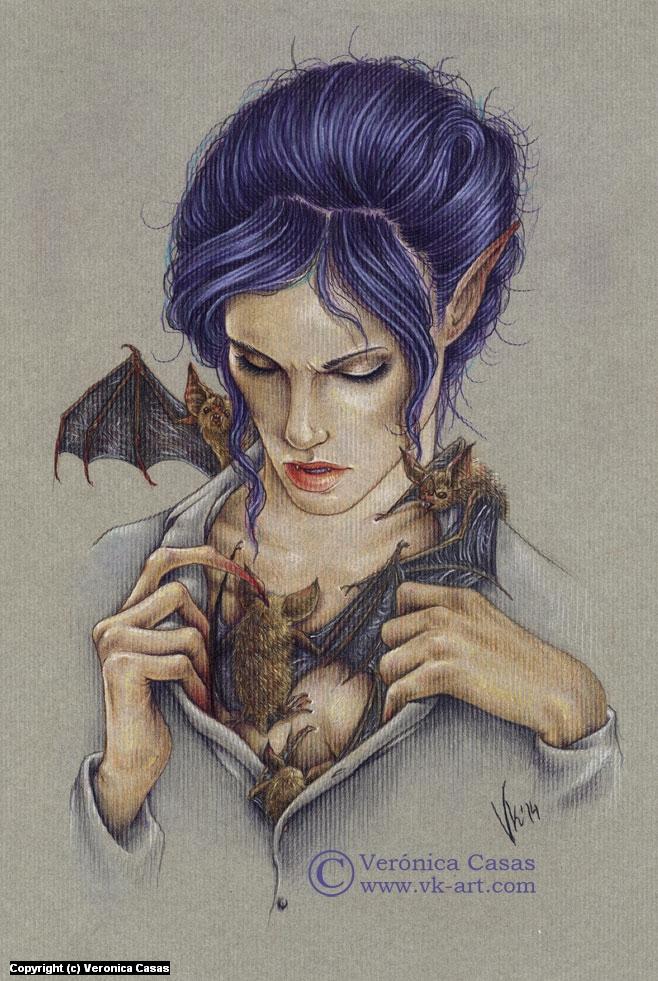 My creatures Artwork by Veronica Casas
