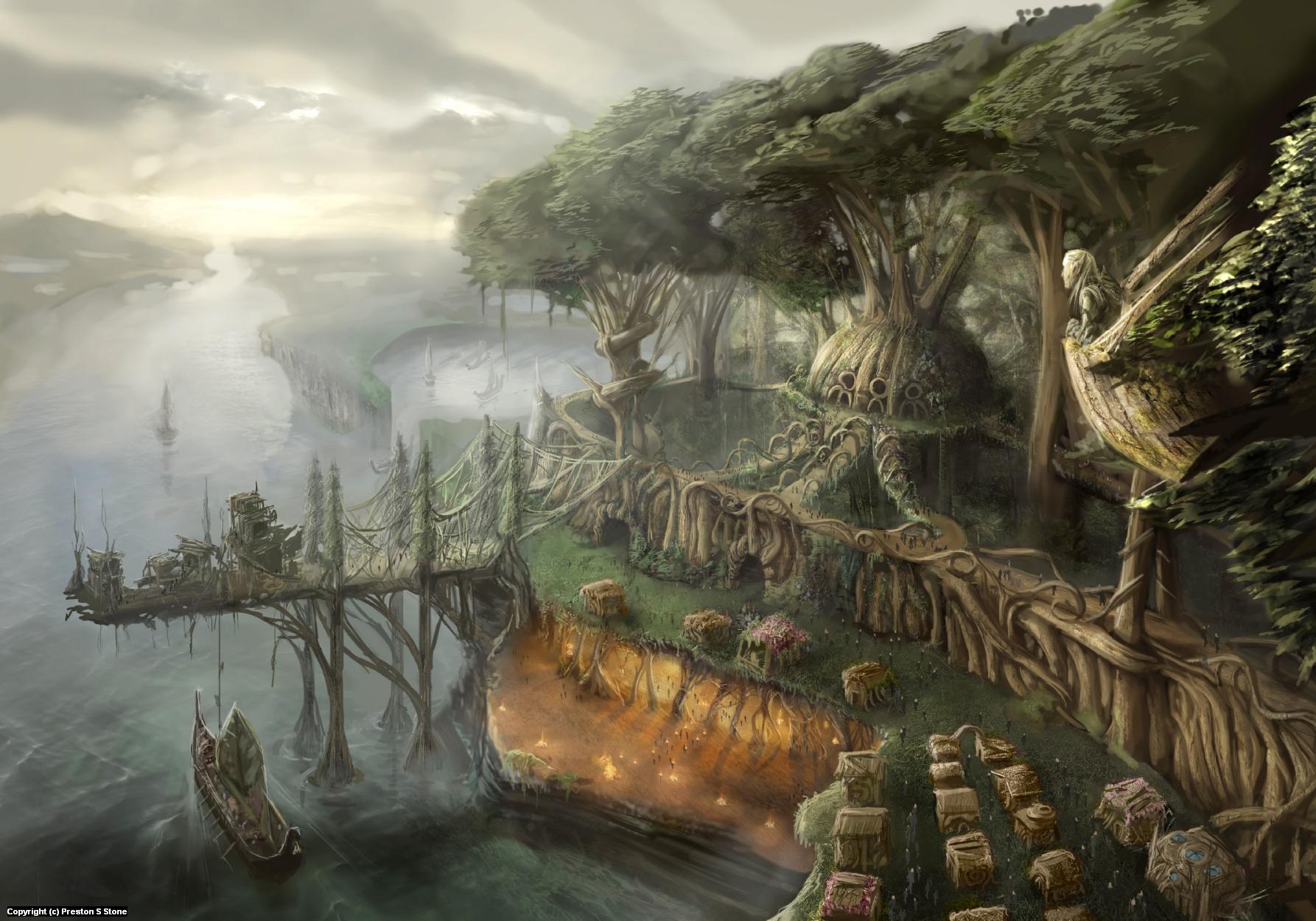 The Elf Fortress Artwork by Preston Stone