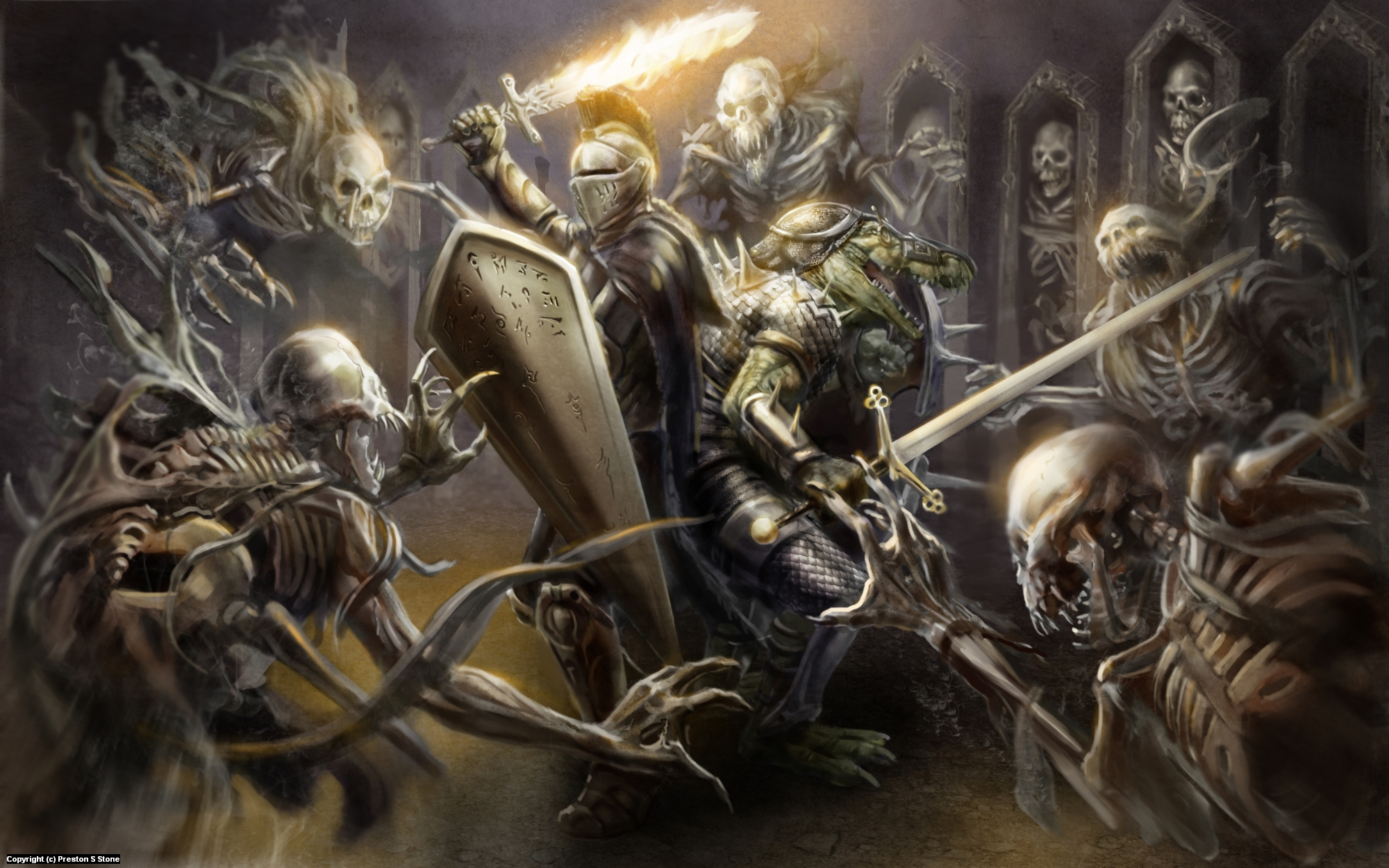 The Catacombs Artwork by Preston Stone
