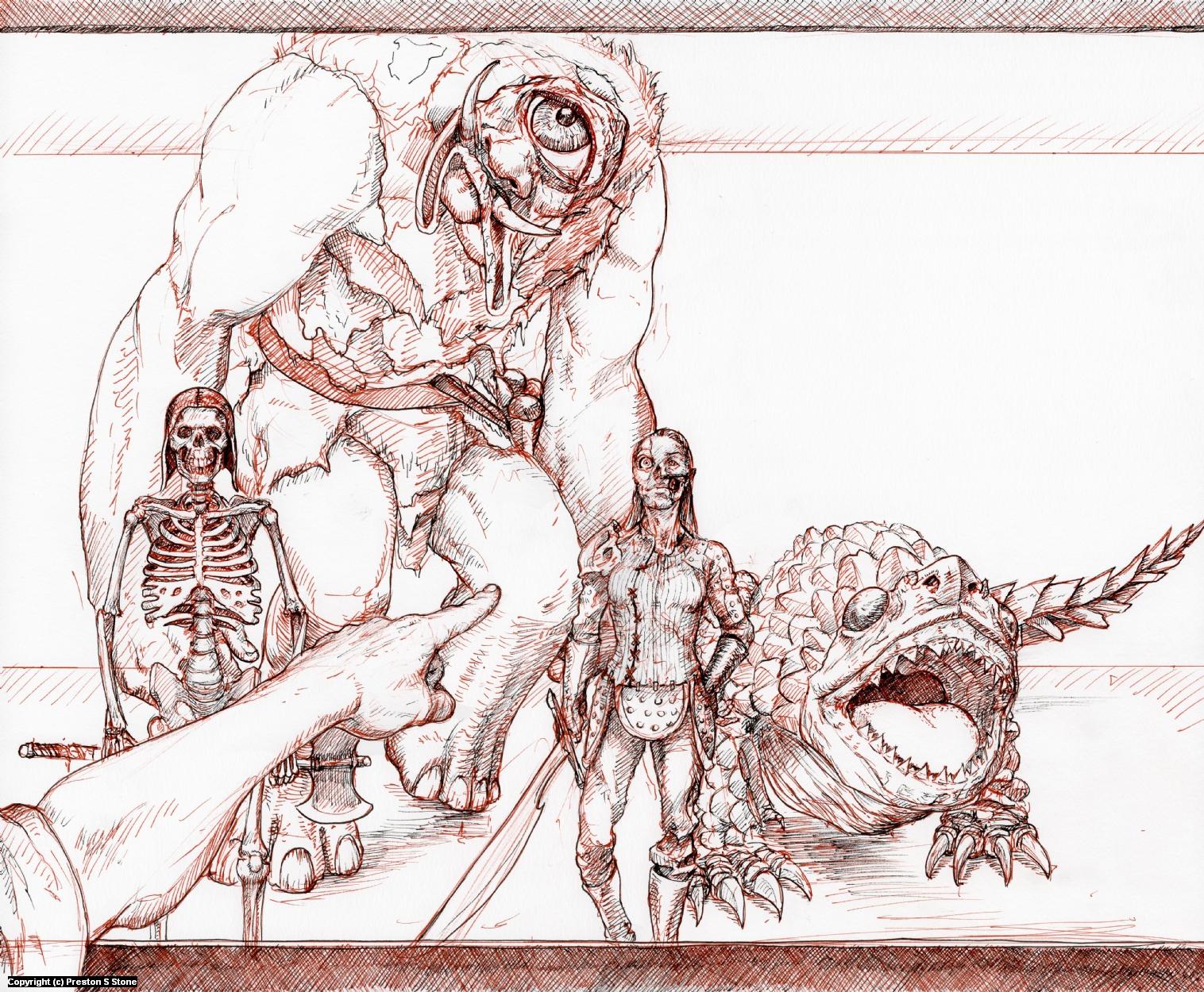 Monsters Artwork by Preston Stone