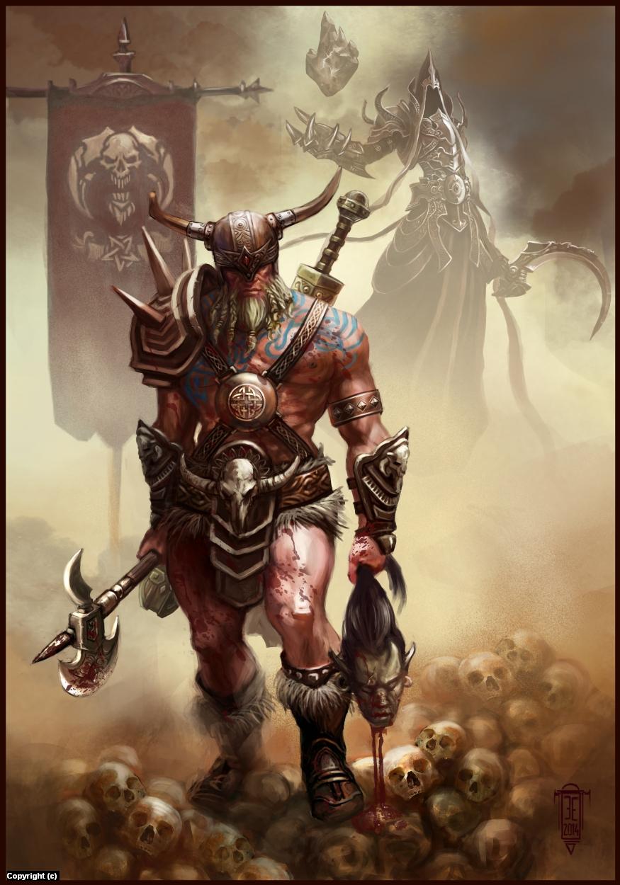 Barbarian  Artwork by Emilian Enache
