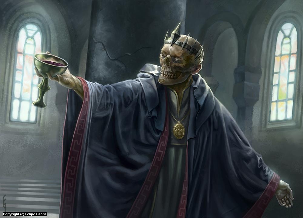 Azharkaras, Undead Emperor Artwork by Felipe Gaona
