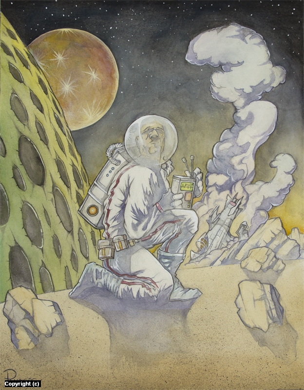 Spaceman Artwork by Tim  Panagos