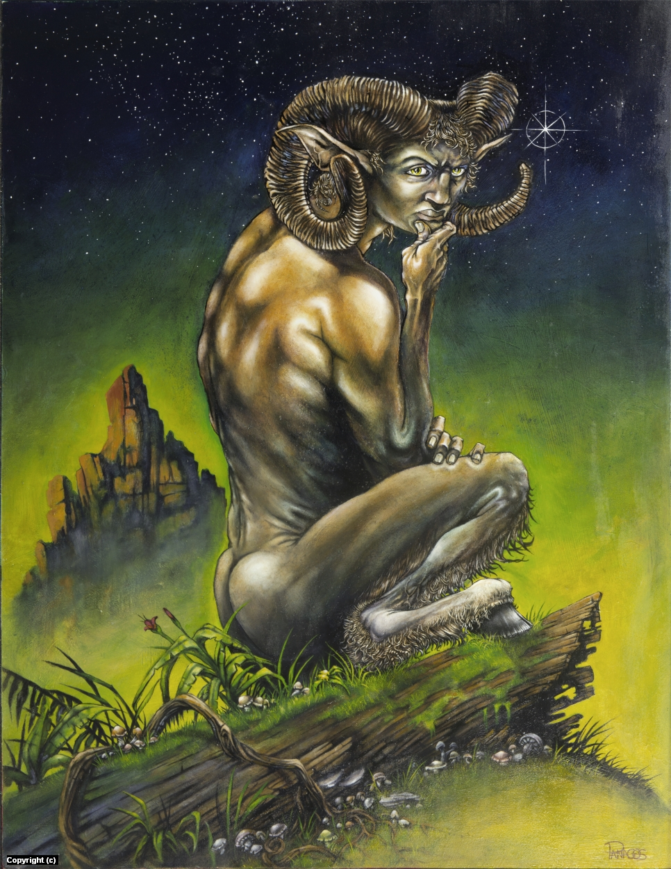 Satyr Artwork by Tim  Panagos