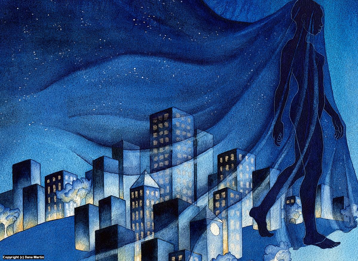 Nyx, Goddess of Night Artwork by Dana Martin