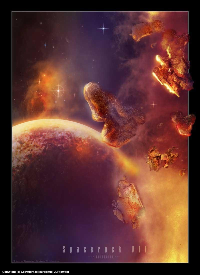 Spacerock VII Artwork by Bartlomiej Jurkowski