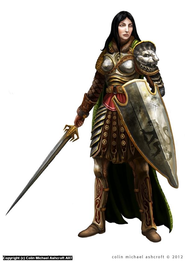 Female Knight. Artwork by Colin Ashcroft