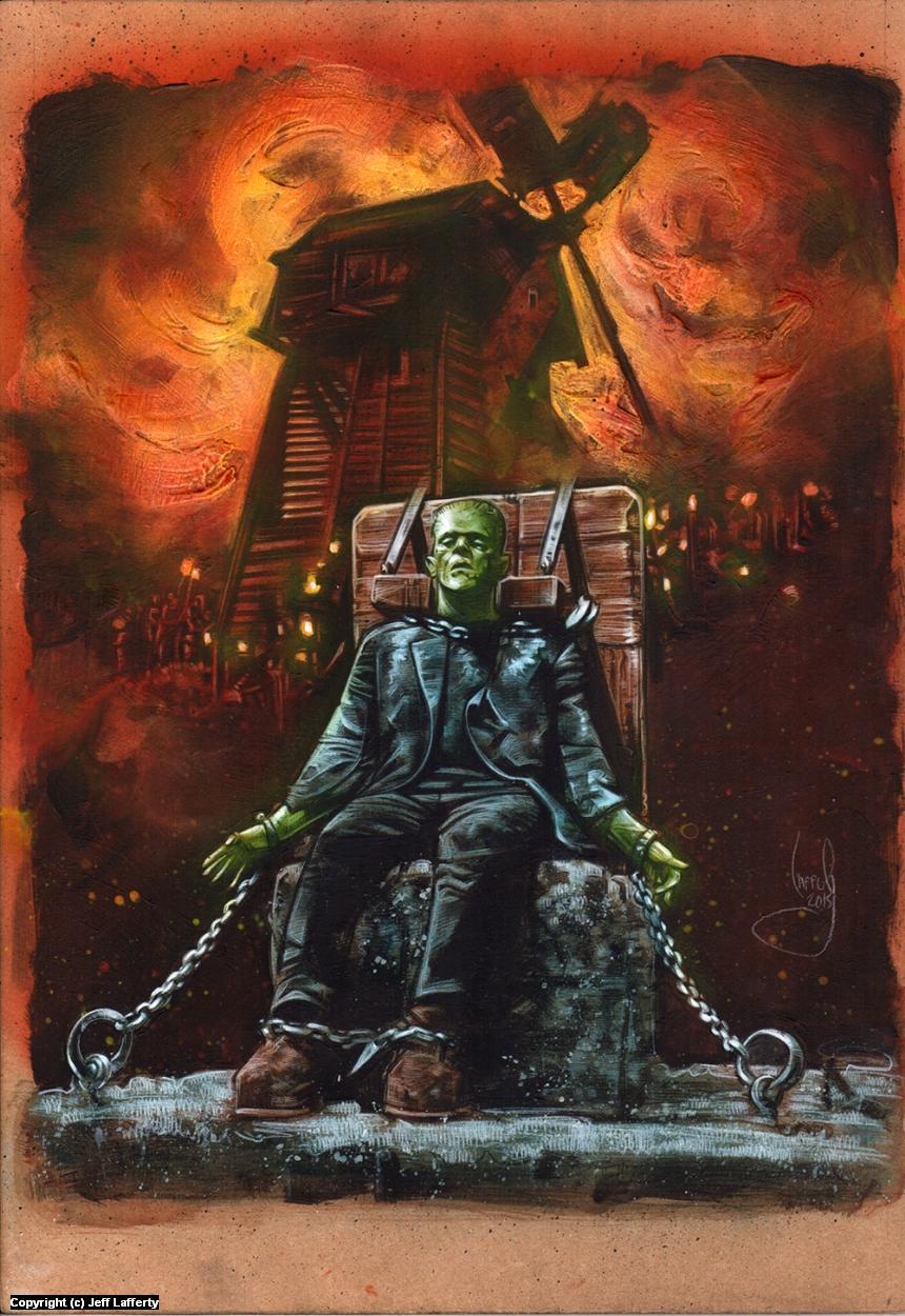 Frankenstein  Artwork by Jeff Lafferty