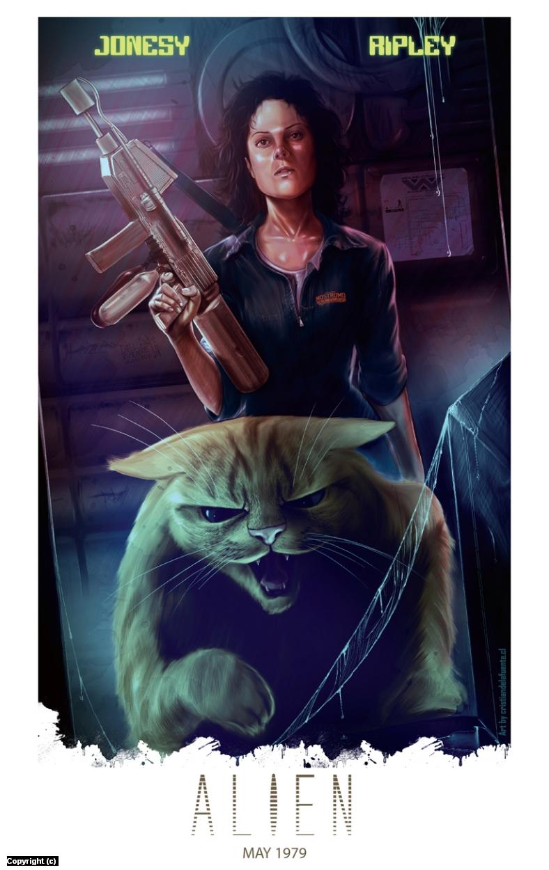 Alien 1979 tribute poster. Artwork by Cristian  De la fuente