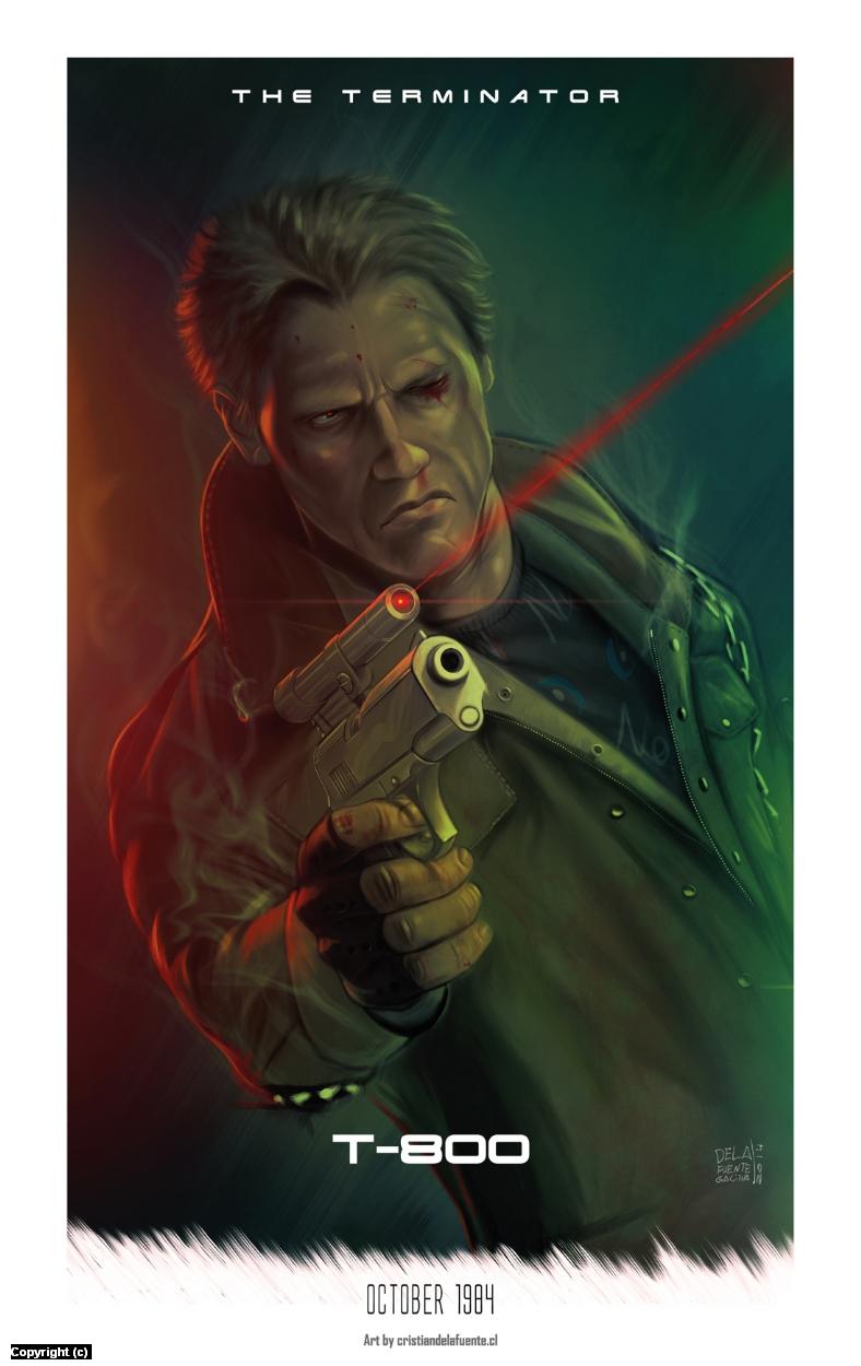 The Terminator Artwork by Cristian  De la fuente