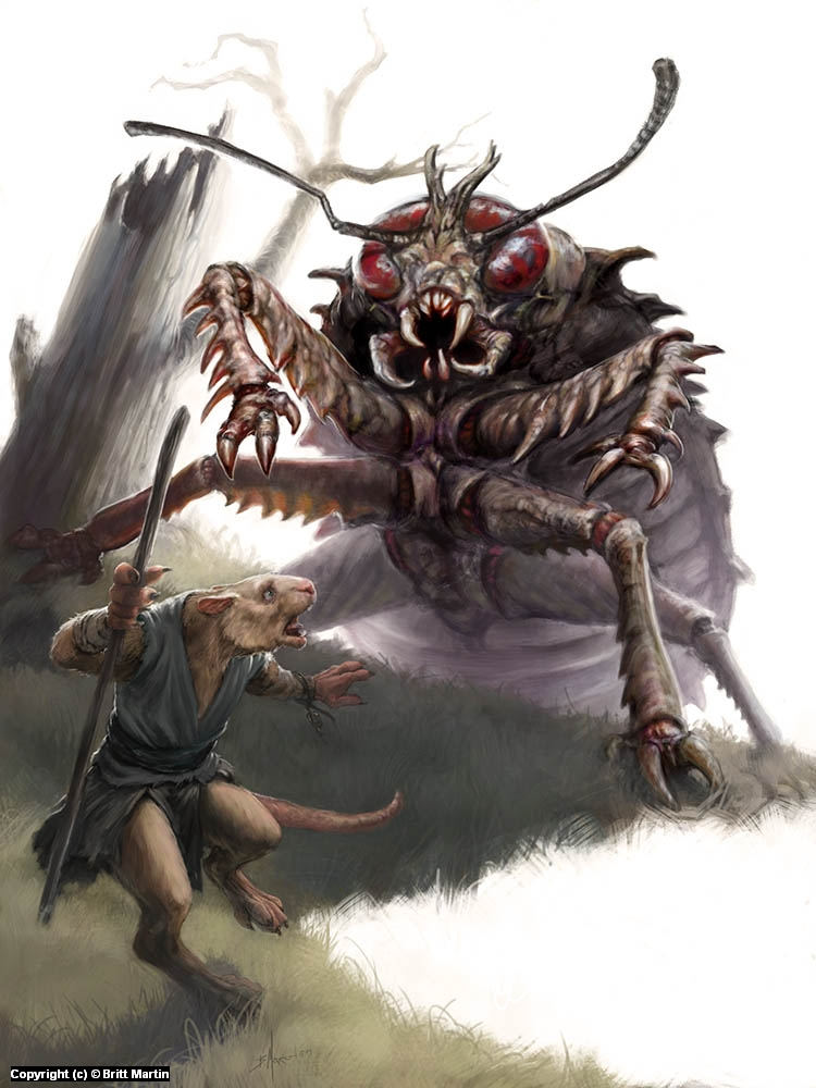 Giant Cockroach Attack Artwork by Britt Martin
