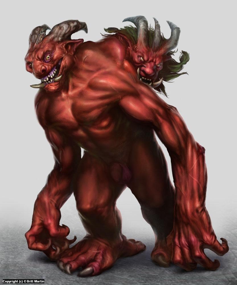 Earthdawn Stretcher Troll Artwork by Britt Martin