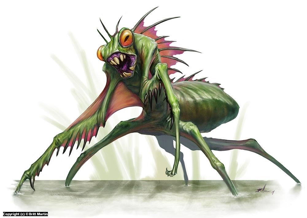Amphibious Giant Mantis Artwork by Britt Martin
