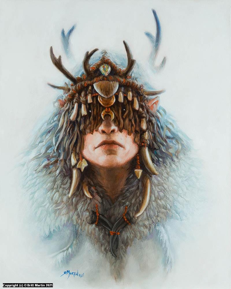 Elf Shaman Artwork by Britt Martin