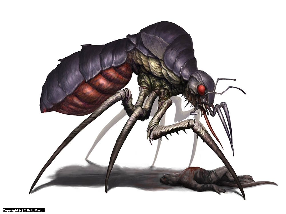Mosquito monster Artwork by Britt Martin