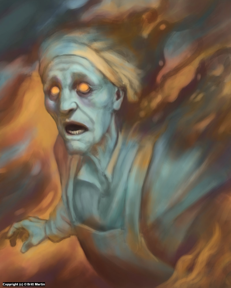 Chakri Ashcloak's ghost Artwork by Britt Martin
