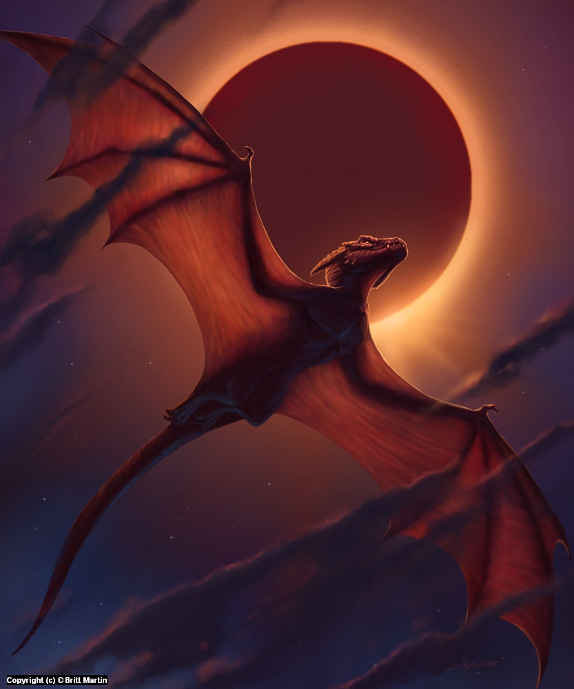 Dragon Eclipse II Artwork by Britt Martin