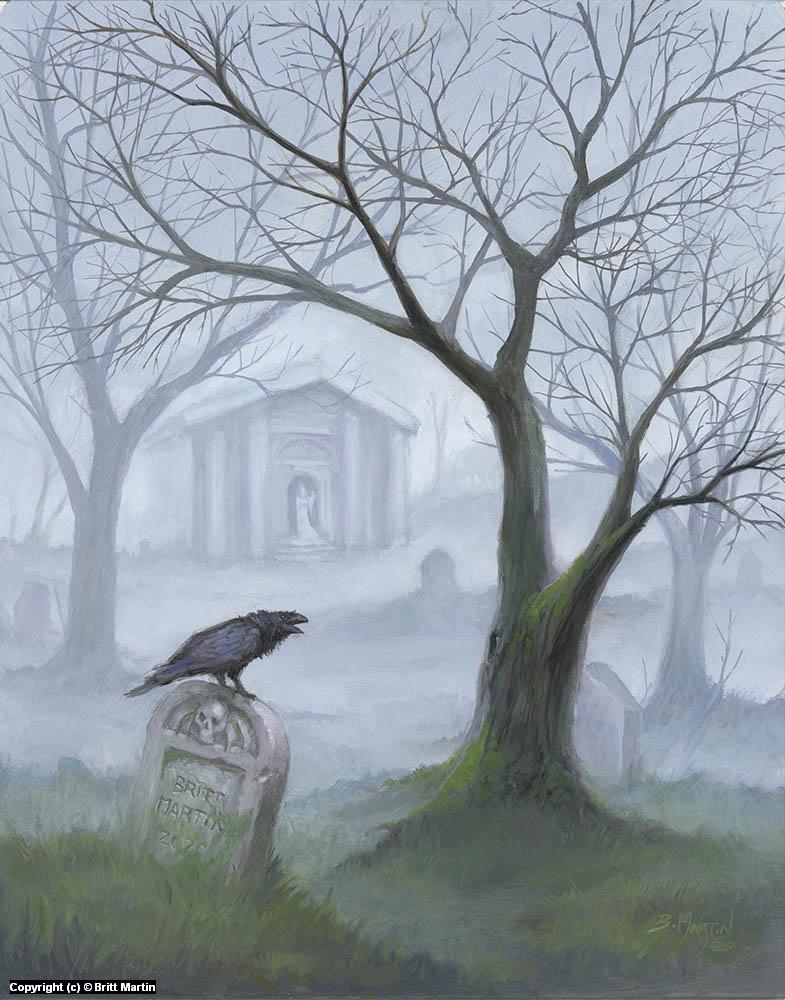 Foggy Graveyard Artwork by Britt Martin