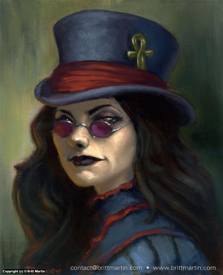 Goth Girl Artwork by Britt Martin