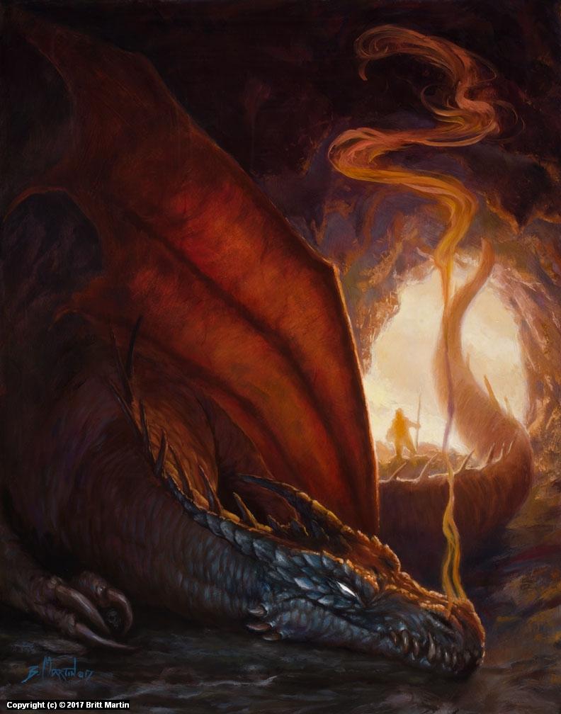 Cave Dragon Artwork by Britt Martin