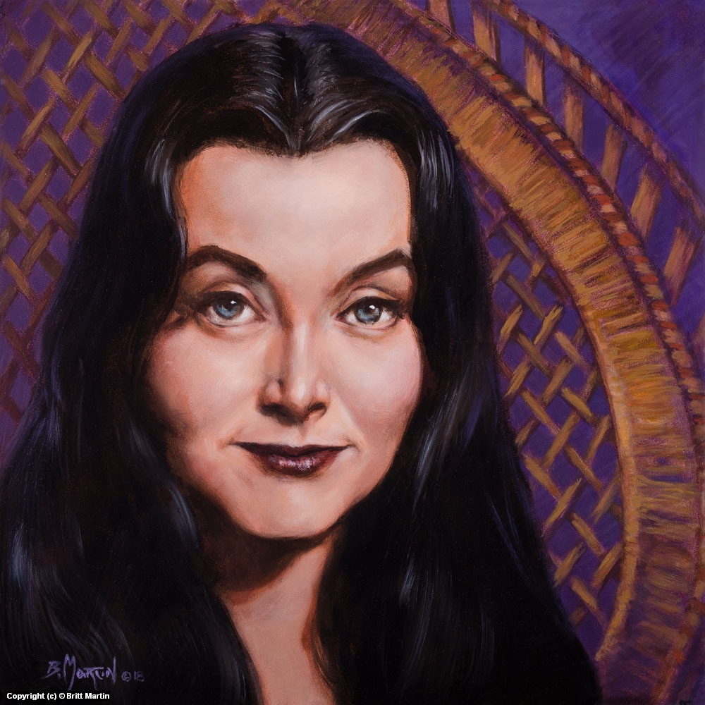 Morticia Artwork by Britt Martin