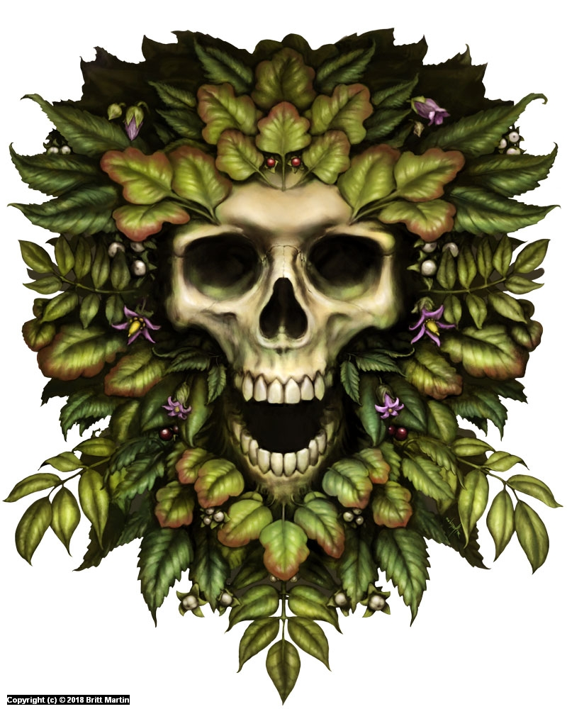 Toxic Greenman Artwork by Britt Martin