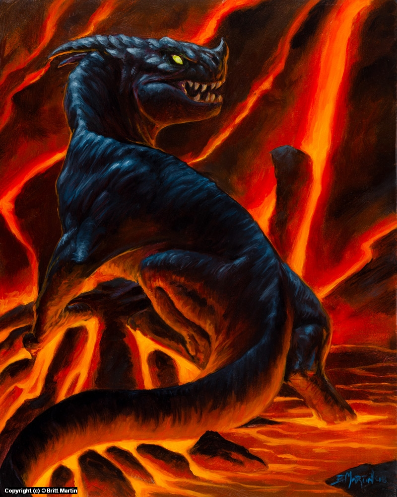 Lava Dragon Artwork by Britt Martin