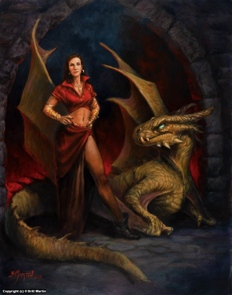 Lady and the Dragon - year 2 Artwork by Britt Martin