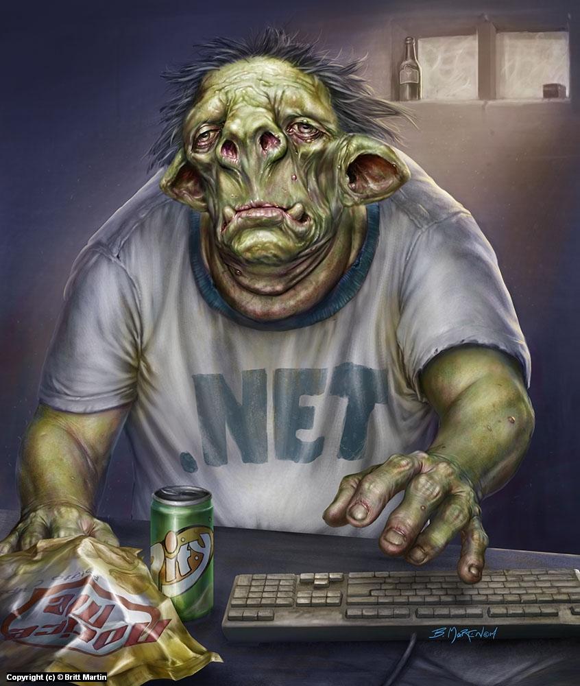Internet Troll Artwork by Britt Martin
