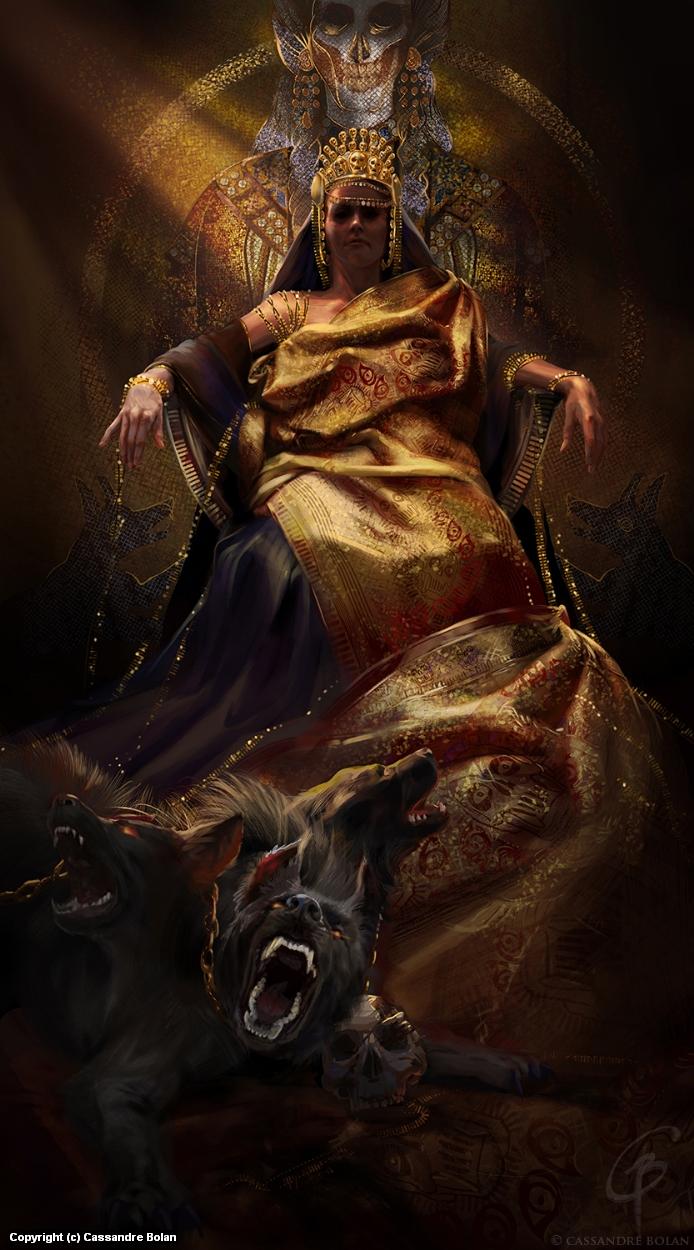 Goddess Hades Artwork by Cassandre Bolan
