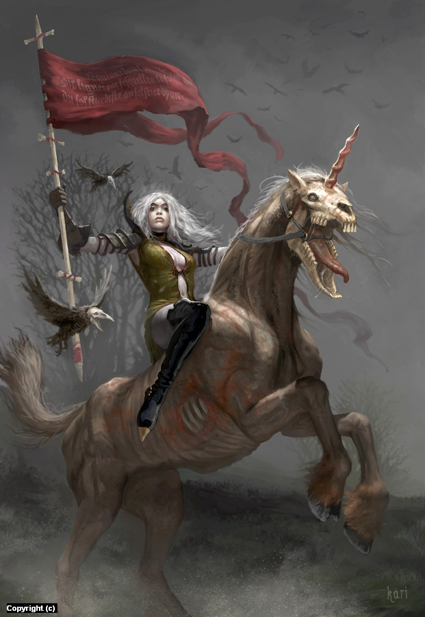 The Fifth Horsewoman of the Apocalypse Artwork by Kari Christensen