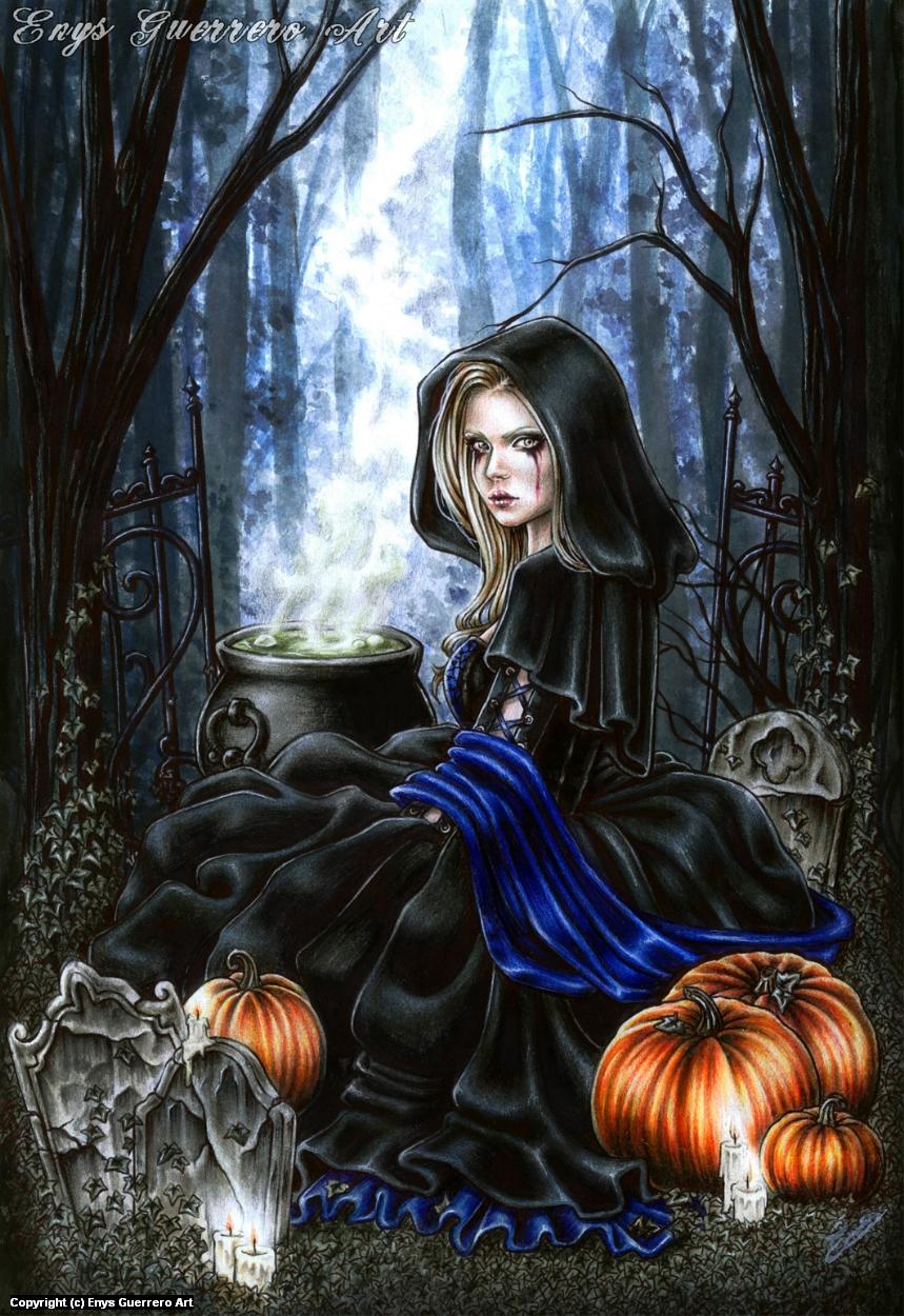 A Samhain Night Artwork by Enys Guerrero