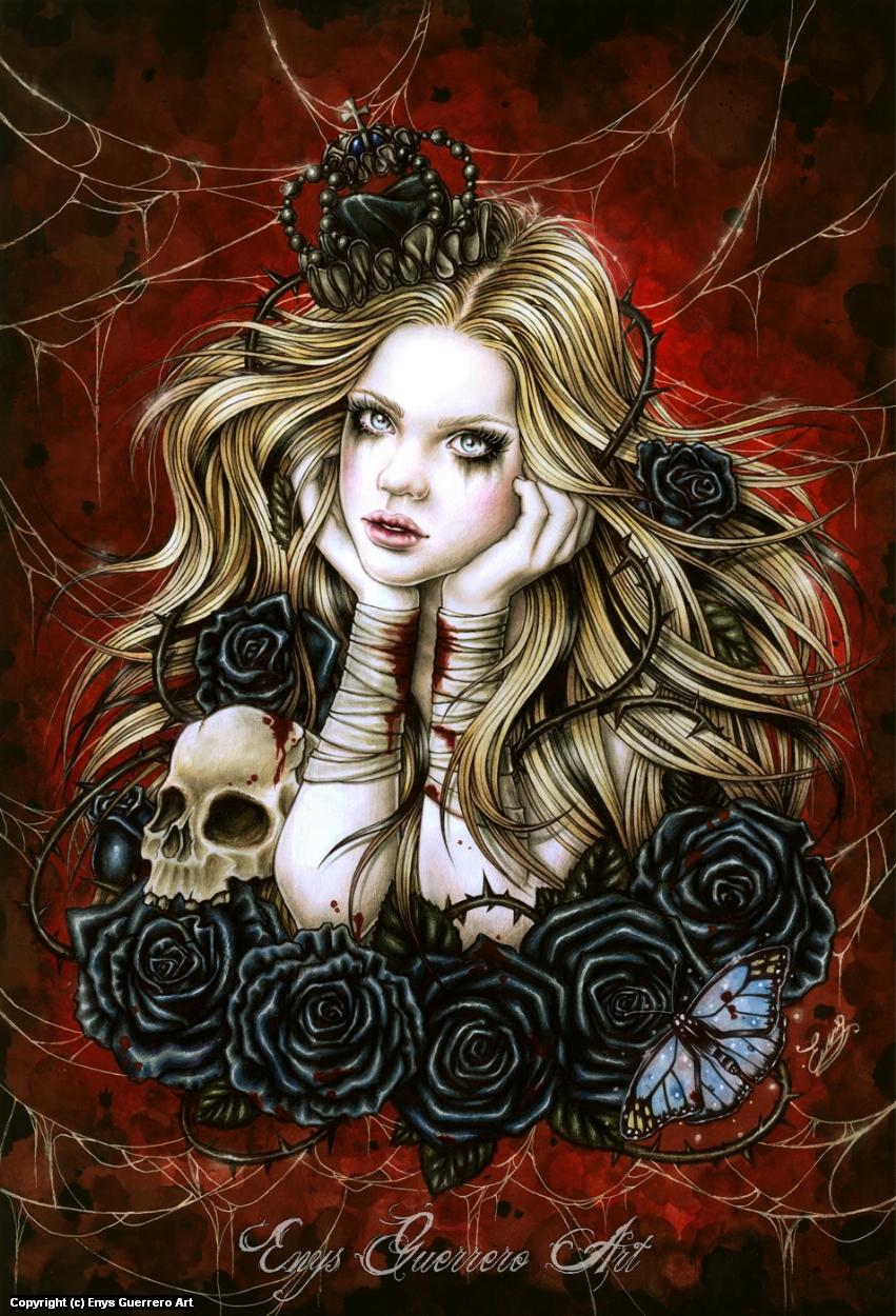 Mad Queen Alice Artwork by Enys Guerrero