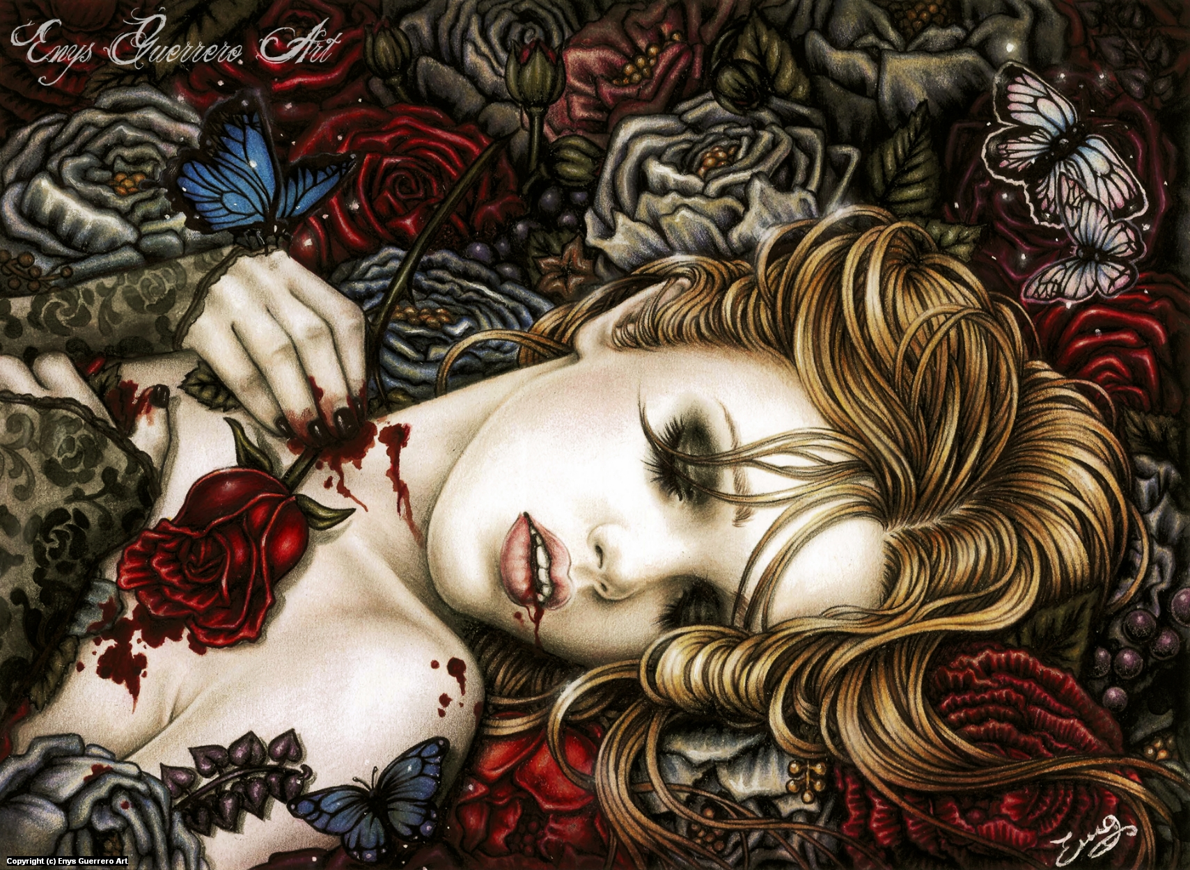 Ecstasy into the savage garden Artwork by Enys Guerrero