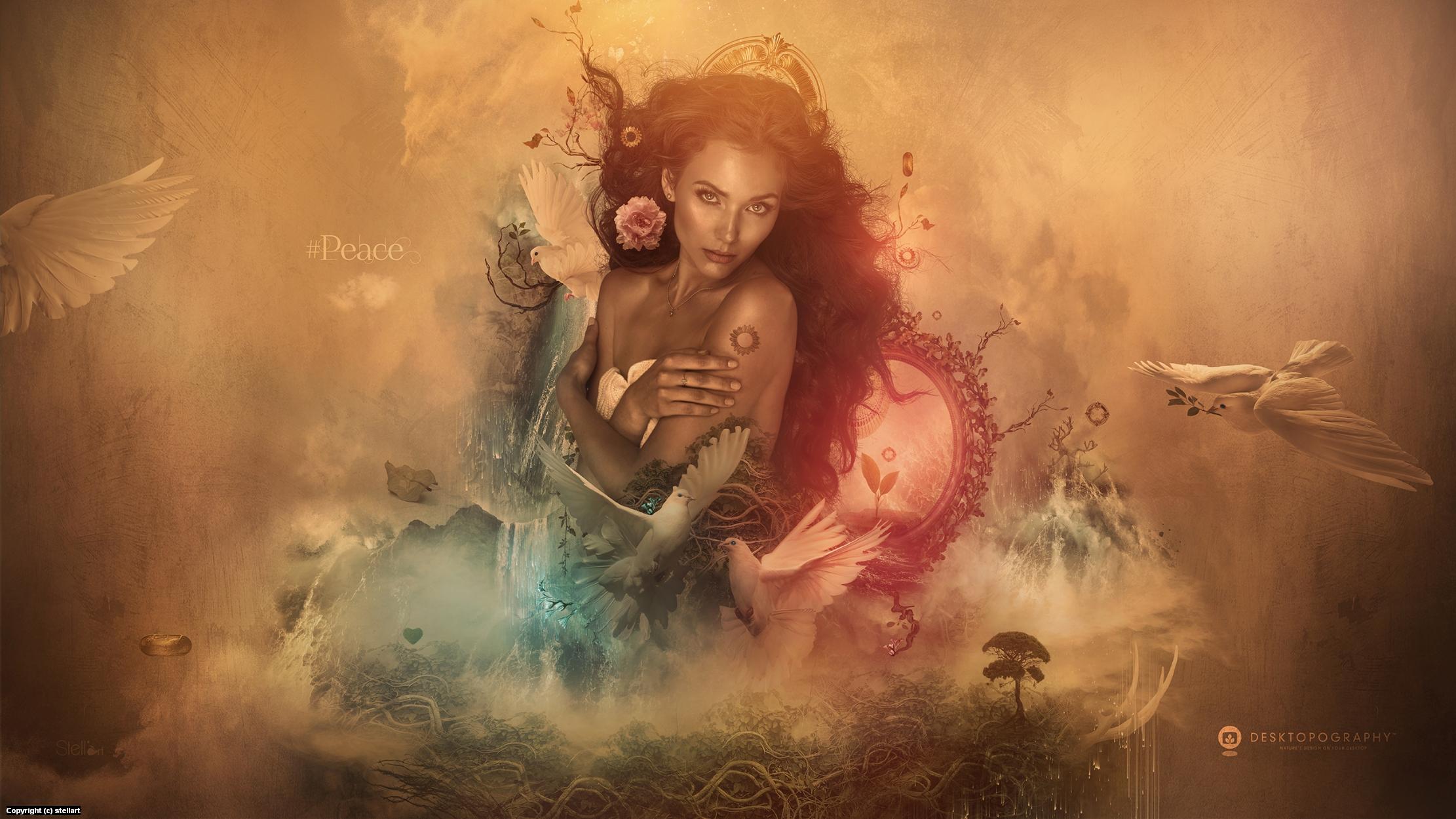 Peace Artwork by Estelle Chomienne