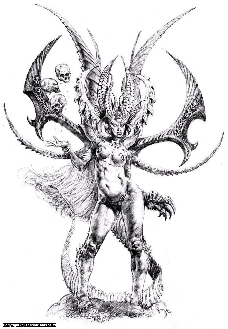 Female Demon Artwork by danny cruz