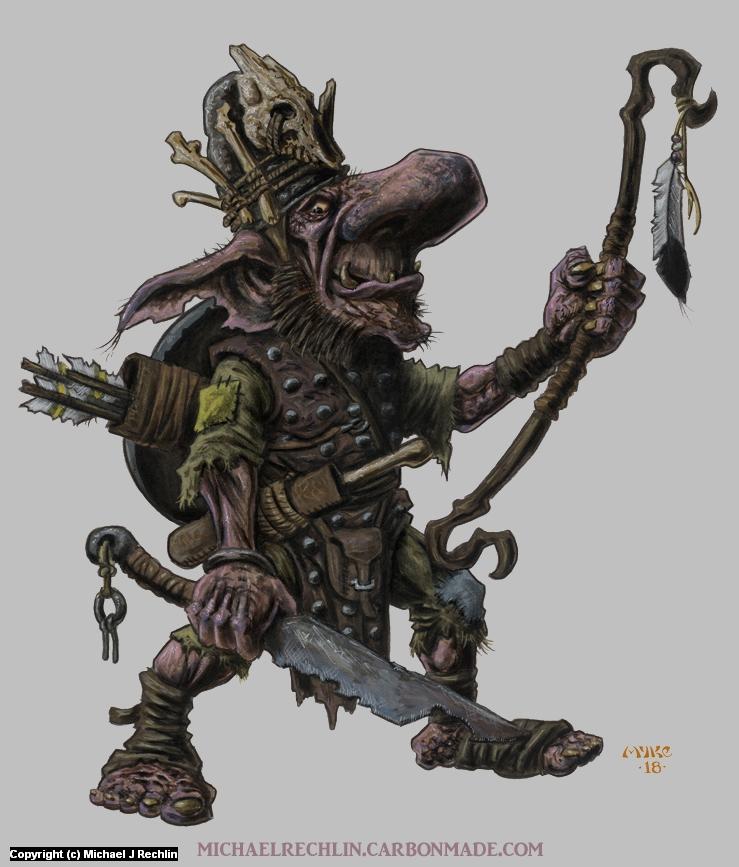Blackened Goblin Artwork by Michael Rechlin